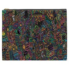 Trees Internet Multicolor Psychedelic Reddit Detailed Colors Cosmetic Bag (XXXL)