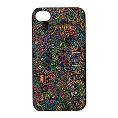 Trees Internet Multicolor Psychedelic Reddit Detailed Colors Apple iPhone 4/4S Hardshell Case with Stand