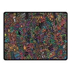 Trees Internet Multicolor Psychedelic Reddit Detailed Colors Double Sided Fleece Blanket (Small)
