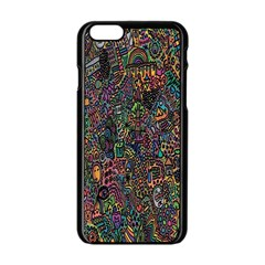 Trees Internet Multicolor Psychedelic Reddit Detailed Colors Apple Iphone 6/6s Black Enamel Case