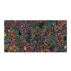 Trees Internet Multicolor Psychedelic Reddit Detailed Colors Satin Wrap