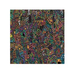 Trees Internet Multicolor Psychedelic Reddit Detailed Colors Small Satin Scarf (Square)