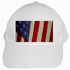 Usa Flag White Cap