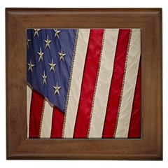Usa Flag Framed Tiles