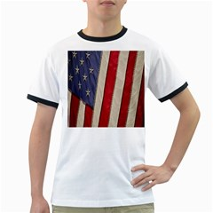 Usa Flag Ringer T-Shirts