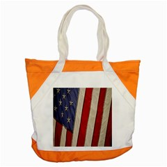 Usa Flag Accent Tote Bag