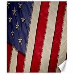 Usa Flag Canvas 8  X 10