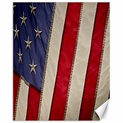 Usa Flag Canvas 16  x 20