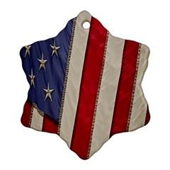 Usa Flag Ornament (snowflake)