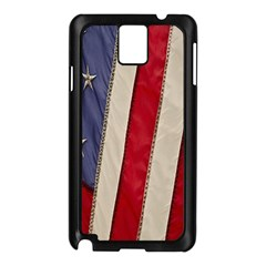 Usa Flag Samsung Galaxy Note 3 N9005 Case (Black)