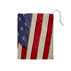 Usa Flag Drawstring Pouches (medium)