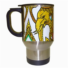 Traditional Thai Style Painting Travel Mugs (White)