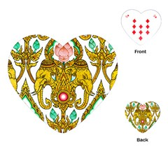 Traditional Thai Style Painting Playing Cards (Heart)