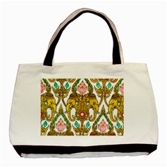 Traditional Thai Style Painting Basic Tote Bag (two Sides)