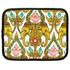 Traditional Thai Style Painting Netbook Case (Large)