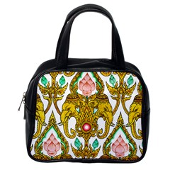 Traditional Thai Style Painting Classic Handbags (one Side)