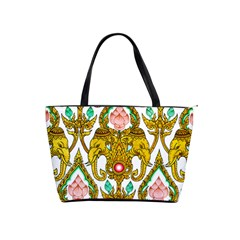 Traditional Thai Style Painting Shoulder Handbags