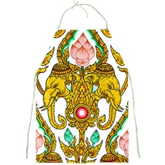 Traditional Thai Style Painting Full Print Aprons
