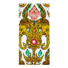 Traditional Thai Style Painting Shower Curtain 36  x 72  (Stall)