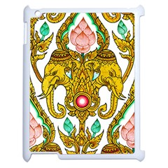 Traditional Thai Style Painting Apple iPad 2 Case (White)