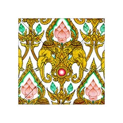 Traditional Thai Style Painting Acrylic Tangram Puzzle (4  X 4 )