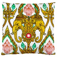 Traditional Thai Style Painting Large Cushion Case (Two Sides)
