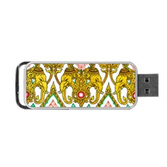 Traditional Thai Style Painting Portable Usb Flash (two Sides)