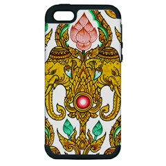 Traditional Thai Style Painting Apple iPhone 5 Hardshell Case (PC+Silicone)
