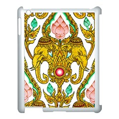Traditional Thai Style Painting Apple iPad 3/4 Case (White)