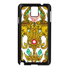 Traditional Thai Style Painting Samsung Galaxy Note 3 N9005 Case (Black)