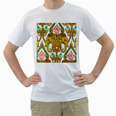 Traditional Thai Style Painting Men s T Shirt (white)