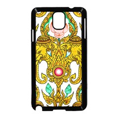 Traditional Thai Style Painting Samsung Galaxy Note 3 Neo Hardshell Case (black)