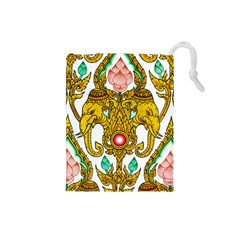 Traditional Thai Style Painting Drawstring Pouches (Small)