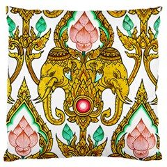 Traditional Thai Style Painting Standard Flano Cushion Case (One Side)