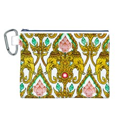 Traditional Thai Style Painting Canvas Cosmetic Bag (L)