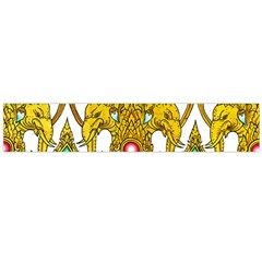 Traditional Thai Style Painting Flano Scarf (Large)