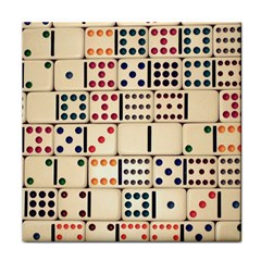 Old Domino Stones Tile Coasters
