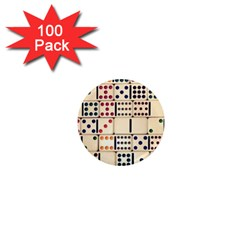 Old Domino Stones 1  Mini Magnets (100 Pack)