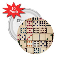 Old Domino Stones 2.25  Buttons (10 pack)
