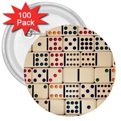 Old Domino Stones 3  Buttons (100 Pack)