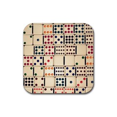 Old Domino Stones Rubber Square Coaster (4 pack)