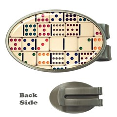 Old Domino Stones Money Clips (oval)
