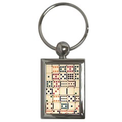 Old Domino Stones Key Chains (rectangle)