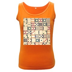 Old Domino Stones Women s Dark Tank Top