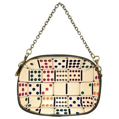 Old Domino Stones Chain Purses (Two Sides)