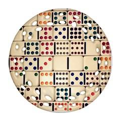 Old Domino Stones Ornament (round Filigree)