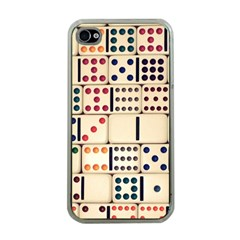 Old Domino Stones Apple iPhone 4 Case (Clear)