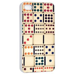 Old Domino Stones Apple iPhone 4/4s Seamless Case (White)