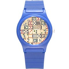 Old Domino Stones Round Plastic Sport Watch (s)