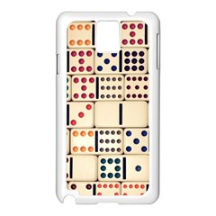 Old Domino Stones Samsung Galaxy Note 3 N9005 Case (White)